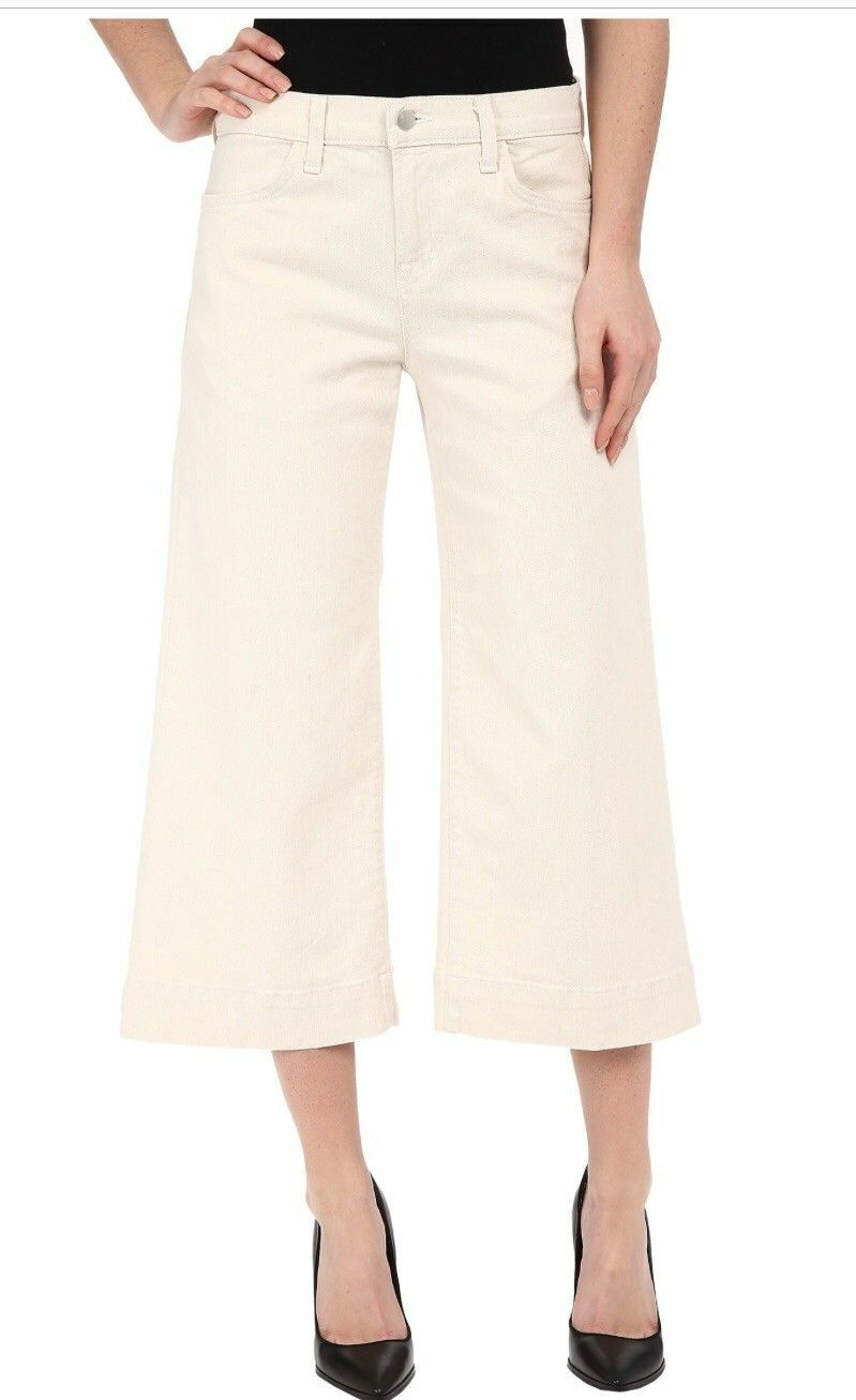 NWT J BRAND Liza Culotte Wide Leg Cropped Jeans In Mystify (Natural) Size 30