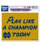 "Notre Dame/Play Like A Champion Today Ultra decals 5"" x 6"" - colored - $15.35"