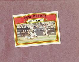 1972 Topps high # 714 Gene Michael In Action New York Yankes Nice Card - $5.99
