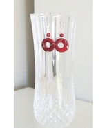 Irridescent Red Donut Mother of Pearl Earrings - $8.50