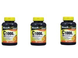 3 X 90 = 270 TABLETS VITAMIN C 1000MG PLUS ROSE HIPS BIOFLAVONOIDS Antioxidant image 1