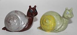 Vintage 1975 Duncan Ceramics Miniature Pair of Snails - $0.00