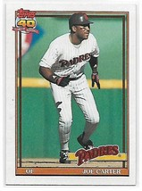 1991 Topps #120 Joe Carter NM-MT Padres - $0.90