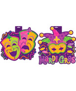 Mardi Gras Cut Outs Comedy Tragedy and Jester Party Decoration Decor - $9.99