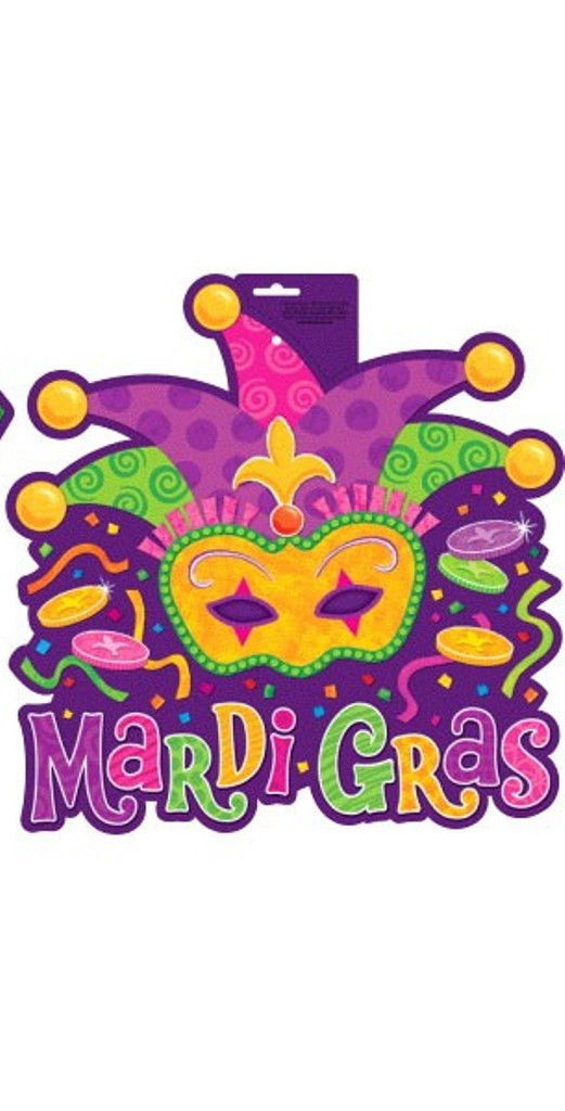 Mardi Gras Cut Outs Comedy Tragedy and Jester Party Decoration Decor