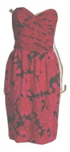 Red and Black silk strapless dress  - $19.59