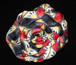 Handmade Up-cycled Red, White and Blue Rosette Necktie Statement Pin - $12.00