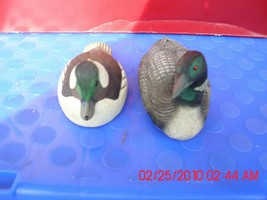 TWO EXCELLENT USED DUCKS-ONE IS A MALLARD AND I DON'T KNOW THE NAME OF T... - $9.79