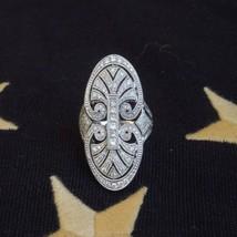Antique Art Deco Diamond Ring / Vintage Engagement-Wedding Women's Ring - $123.75