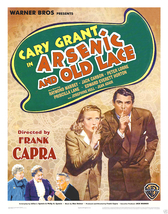 Arsenic And Old Lace Poster 14x22 In Belgian Cary Grant Priscilla Lane Color - $24.99
