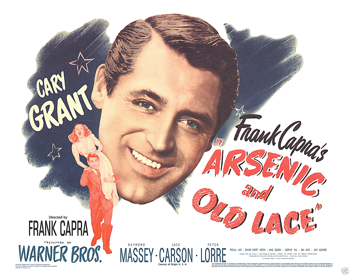 Arsenic and old lace lobby card cary grant headshot