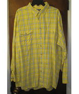 SOLD - Panhandle Slim Pearl Snap Shirt Size XXL 2XL Bright Yellow Plaid - $999,921.99