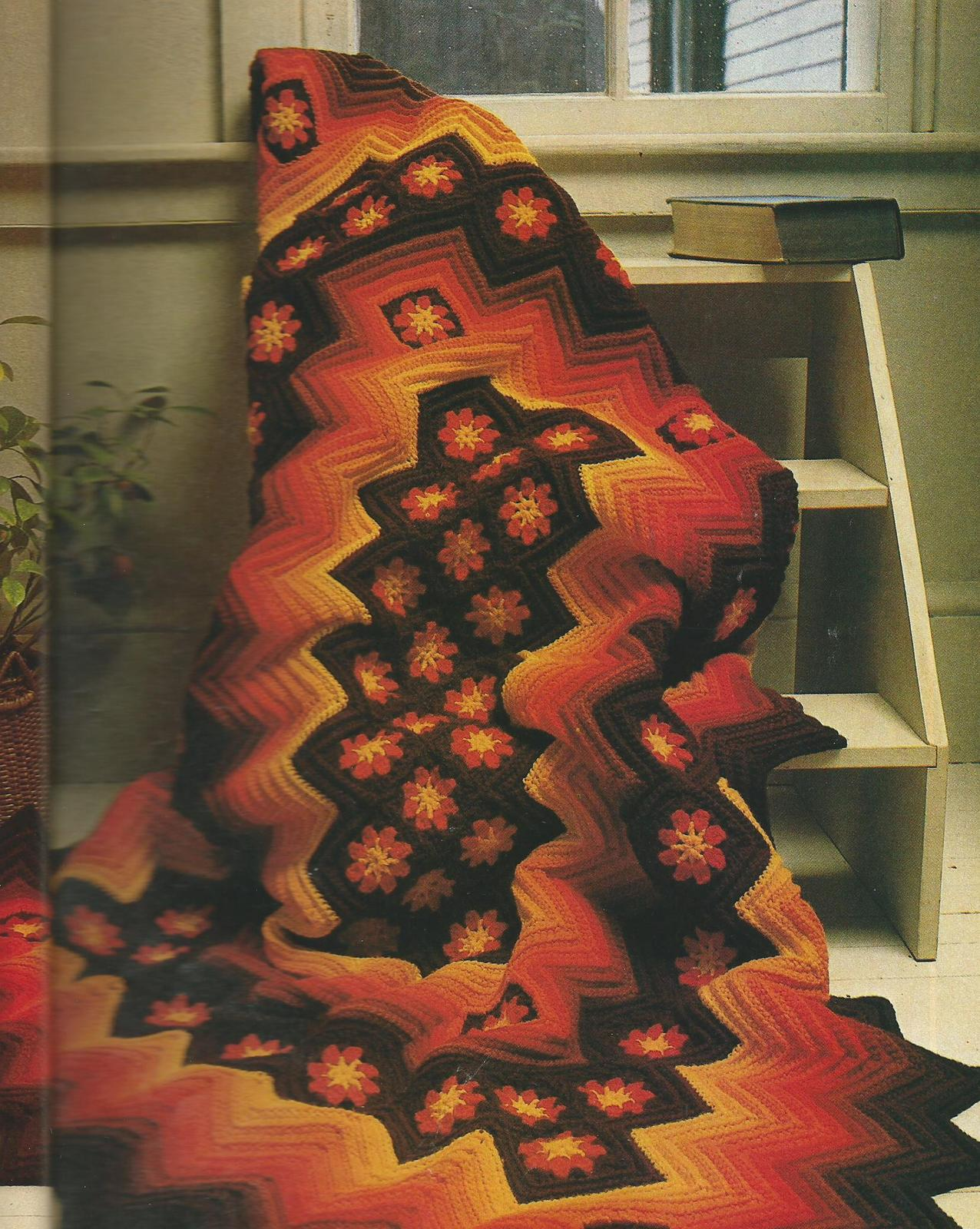 Super Book of Knit & Crochet Afghans Magazine~Indian Pottery Afghan~45+Patterns - $49.99
