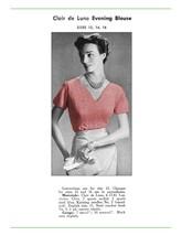 1950s Ribbon Sweater with V Neckline, Short Sleeves  - Knit pattern (PDF... - $3.75