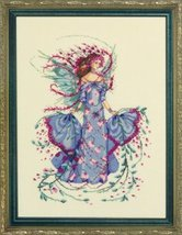 October Opal Fairy MD132  FULL LINEN KIT cross stitch Mirabilia Designs - $57.80