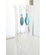 Iridescent Sky Blue Mother of Pearl Earrings - $8.50