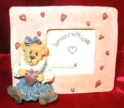 Boyds Bear Juliet Bearilove Have A Heart Picture Frame 82009