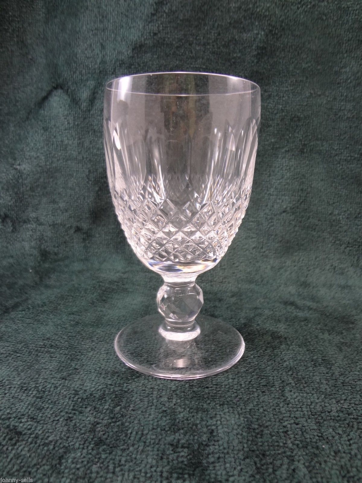 """Waterford Crystal Colleen White Wine Glass Short Stem 4 5/8"""" Signed - $63.65"""