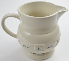Longaberger Pottery China Woven Traditions Classic Blue 64 Oz Pitcher Dr... - $54.99