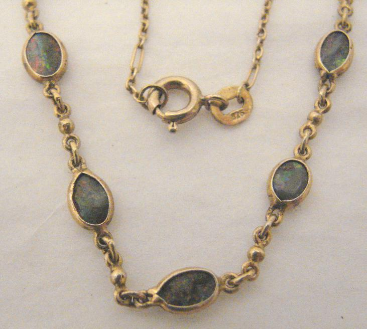BOULDER OPAL VERMEIL NECKLACE