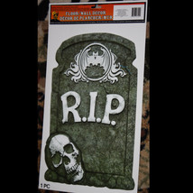 Graveyard Cemetery RIP TOMBSTONE SKULL Sticker Cling Decal Halloween Dec... - $4.92
