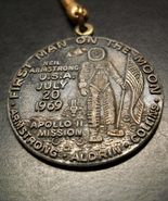 Apollo II Mission Key Chain First Man On The Moon Armstrong Aldrin Collins - $10.99