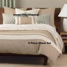 6 PIECE HOME SERIES ULTRA SOFT DEEP POCKET BED SHEETS WRINKLE FREE SHEET... - $23.95+