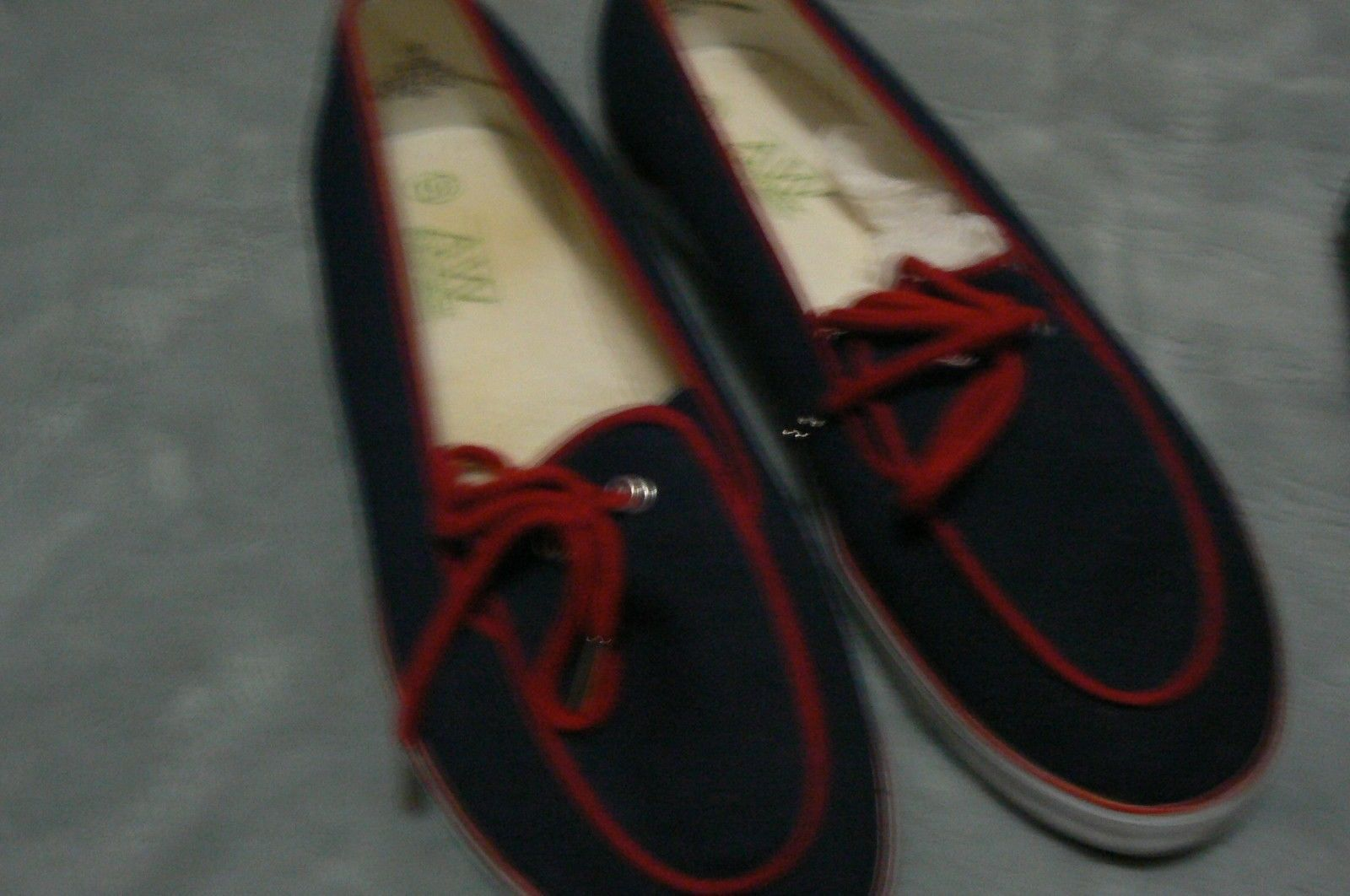 8de5f8aed475ad Gently Used Grasshopper AW Sports Navy Blue Red White Slip On Deck Shoes