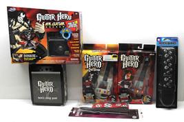 6 Pc Guitar Hero Lot Air Rocker+2 Carabiner+Men's Sleep Pants+2 Guitar S... - $31.78
