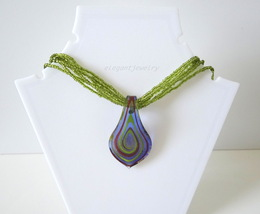 MURANO PENDANT NECKLACE - $19.00