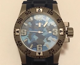 Men's Invicta Excursion Blue Army Camouflage Edition Watch 70 - $149.99