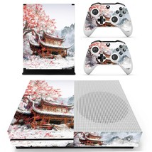 Chinese house decal xbox one S console and 2 controllers - $15.00