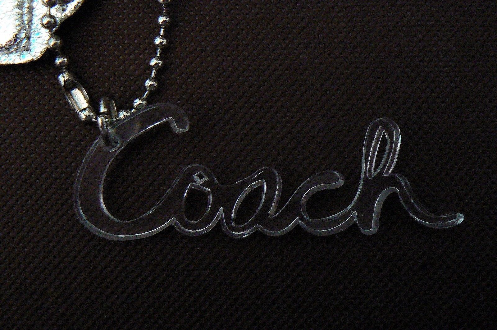 Coach 3 Piece Clear Silver Star Poppy Hangtag Set w/ Polished Nickel Excellent!!