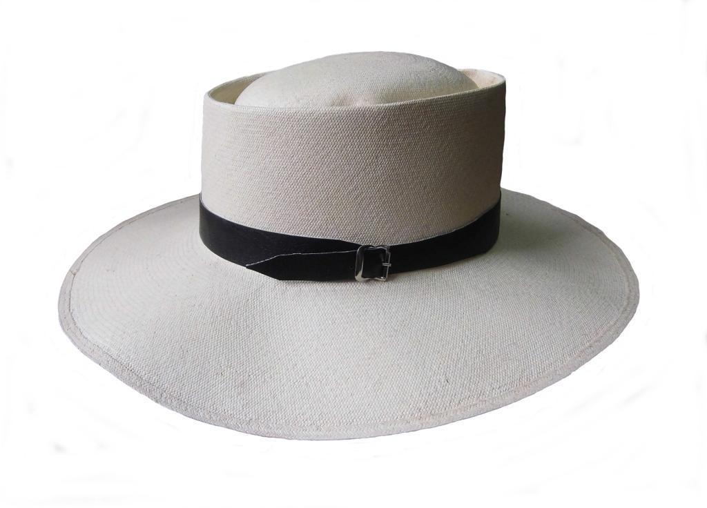 Marinera Panama hat, hand woven , made of palm toquilla, 1A quality straw hat ma - $112.90