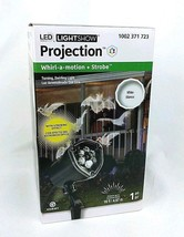 LightShow LED Projector Whirl A Motion White Bats Halloween Light Decor - $18.99