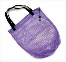 Nylon Mesh Drawstring Bag 15x17 assorted colors travel beach storage - $5.40