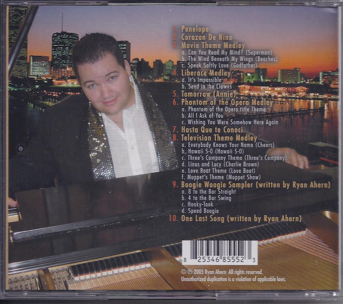RYAN AHERN NO CITY LIMITS Authographed  CD, New