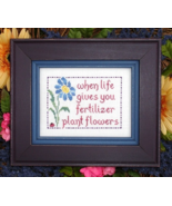 Plant Flower MBT092 cross stitch chart My Big Toe Designs - $8.00