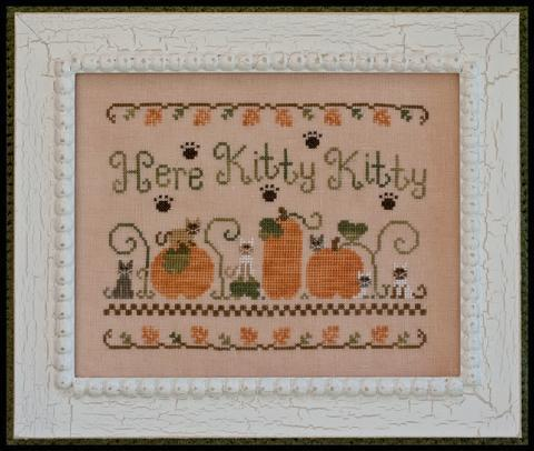Primary image for Here Kitty Kitty fall pumpkin cross stitch chart Country Cottage Needleworks