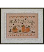 Here Kitty Kitty fall pumpkin cross stitch chart Country Cottage Needleworks - $7.20