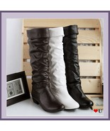 Soft Supple Slide on Leather Low Heel Equestrian Riding Boots, Mid Calf ... - $89.95