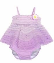 Kate Mack Baby Girls Lavender Size 9 Months 2pc Tankini Ruffle Swimsuit NWT - $22.44