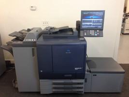 Konica Minolta Bizhub Pro C6000L Copier Printer Scanner Finisher LCT, only 122k - $21,770.10
