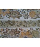 "Waverly Old Saybrooke Bonded Linen Fabric 48"" x 1' 14"" Vintage - $10.99"