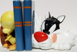 Applause Looney Tunes Sylvester and Tweety Bookends #29225 w/Original Box - $299.95