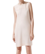$89.9 NWT ZARA Dress with Studded Collar in Nud... - $89.00