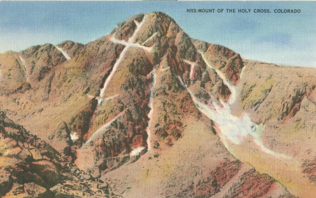 Mount of the Holy Cross, Colorado, unused linen Postcard