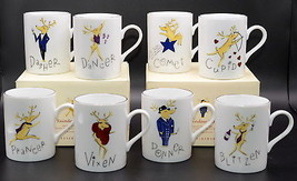 Pottery Barn Reindeer * 8 MUGS / CUPS * Christmas, Lightly Used Condition - €61,40 EUR