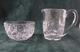 Waterford Crystal Lismore Creamer & Open Sugar Bowl Set Signed - $123.97