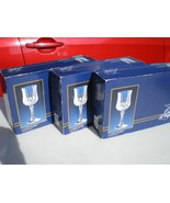 12 CRISTAL d'Arques J.G. Durand Longchamp Footed Wines in 3 Boxes~~~ - $39.99